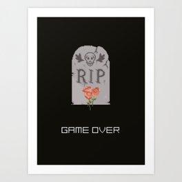 Game Over. Art Print