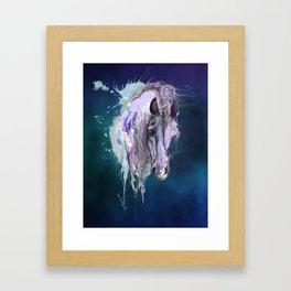 Purple Horse Framed Art Print