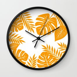 Paradise in Tangerine Wall Clock