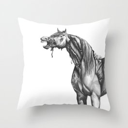 Equine Quietus: The Zombie Horse Throw Pillow