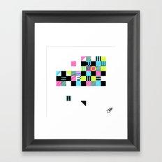Something Other 2 On White Framed Art Print