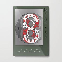 Loco Ochos Metal Print