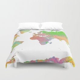 World Map - 8 Duvet Cover
