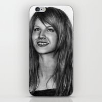 hayley williams iPhone & iPod Skins featuring Hayley Williams by ''Befne''
