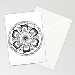 Mandala Floral Ink Art Stationery Cards