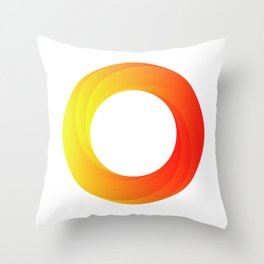 circle on fire Throw Pillow