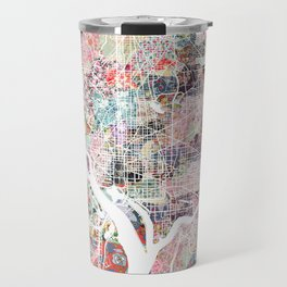 Washington map flowers Travel Mug