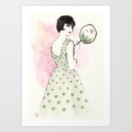 'Charlotte' Watercolor Fashion Illustration Art Print