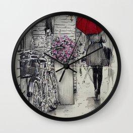 amsterdam walk Wall Clock