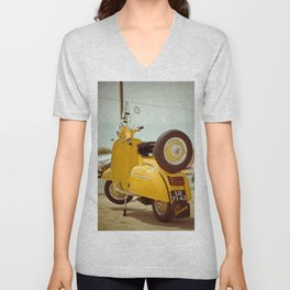 Yellow Vespa Unisex V-Neck
