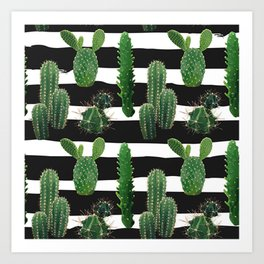 Cute Cactus Succulent Lover Gift Art Print