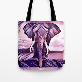 Elephant Drinking Water Tote Bag