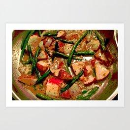 Vegetables Cooking Art Print