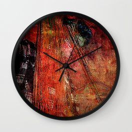 Sicilian Fisherman (This Artwork is a collaboration with the talented artist design  Ganech Joe) Wall Clock