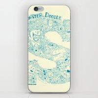 Monster Doodle - light version iPhone & iPod Skin