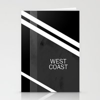 west coast Stationery Cards featuring WEST COAST. by Ruben A. Alonso