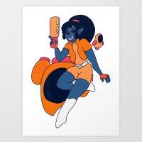 Yan Zera: Bounty Hunter Art Print