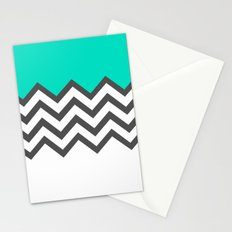 Color Blocked Chevron 9 Stationery Cards