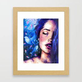 Music of the ocean Framed Art Print