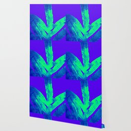 Blue Ultraviolet Green Earth Day Fern Wallpaper