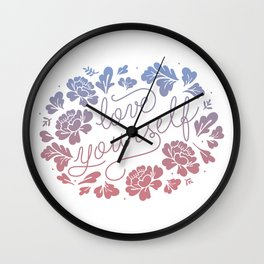 Love yourself color Wall Clock