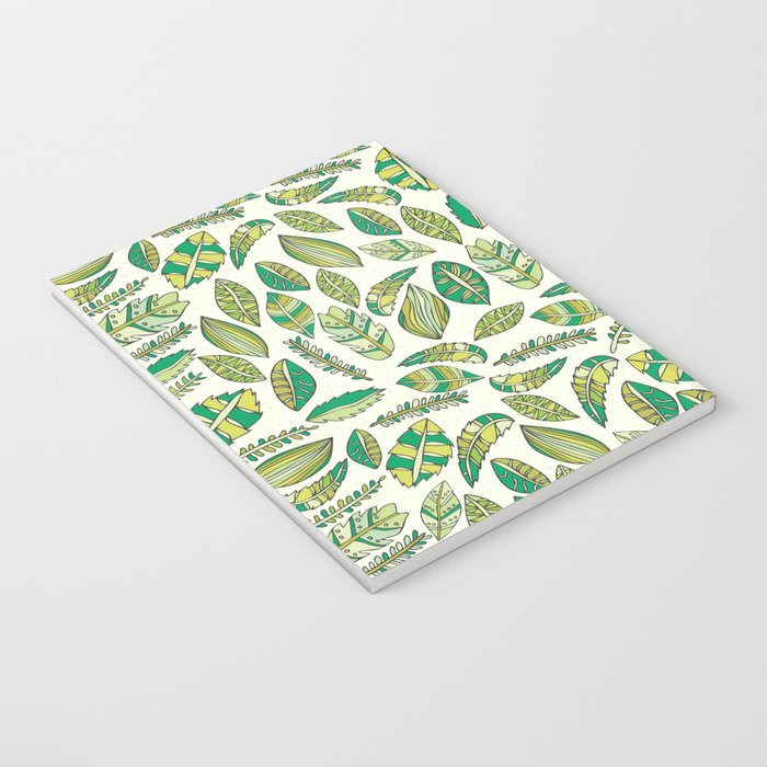 Tropical Jungle Leaves Notebook