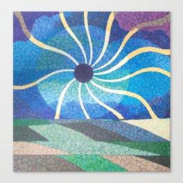 Eclipse Spirals Canvas Print
