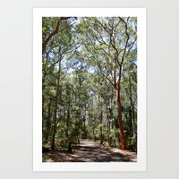hiking Art Prints featuring Hiking by Georgia
