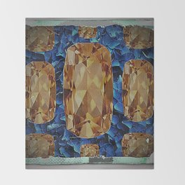 SHABBY CHIC NOVEMBER CITRINE GEMS BIRTHSTONE Throw Blanket