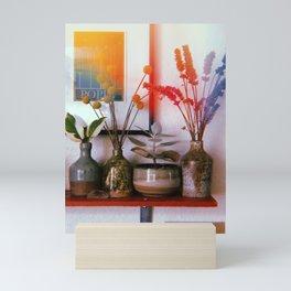 Four Pots and Poppy Mini Art Print