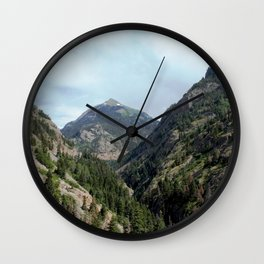 Perilous Road Down the Uncomphgre Gorge Wall Clock