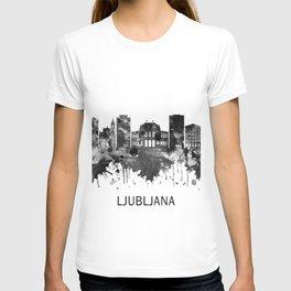 Ljubljana Slovenia Skyline BW T-shirt