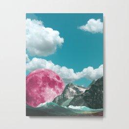 cloudy skies and magenta moons Metal Print