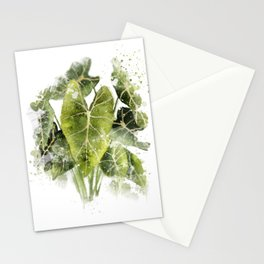 Abstract Philodendron 2 Stationery Cards