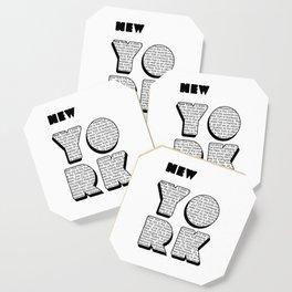 New York in writing Coaster