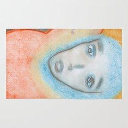 Spiritual Chalks Drawing of Jesus, The Hanging Man Rug