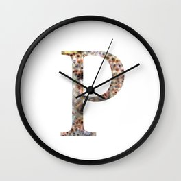 """Initial letter """"P"""" Wall Clock"""