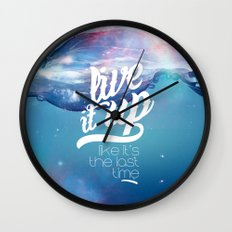 Live it up Wall Clock