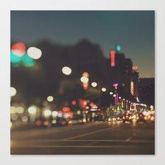 Hollywood Boulevard. Los Angeles Canvas Print