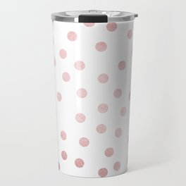 Simply Dots in Rose Gold Sunset Travel Mug