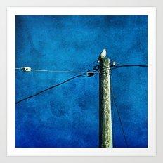 'BIRD ON A WIRE' Art Print