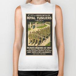 Vintage poster - British Military Biker Tank
