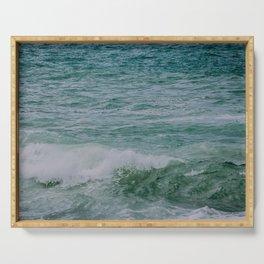 Emerald Coast Waves Serving Tray