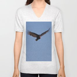 RED HEADED VULTURE Unisex V-Neck
