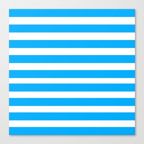 Blue Lines Canvas Print