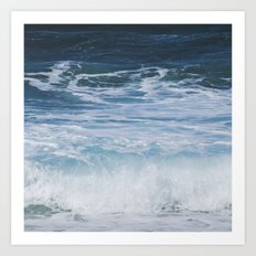 Ocean waves from the depths of the stars Art Print