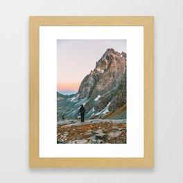 sunset on the monviso Framed Art Print
