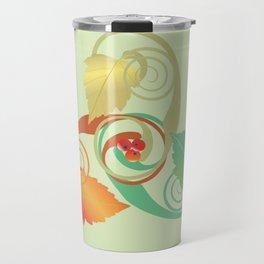 Three Hawthorn Leaves Travel Mug