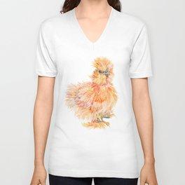 Silkie Chicken - Sweet Potato Unisex V-Neck