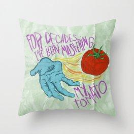 HORSE TOMATO Throw Pillow